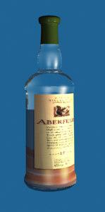 3d whisky bottle
