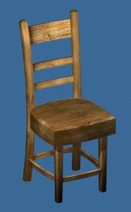 3d model wooden chair