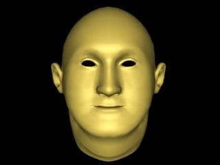 3d male mesh head model