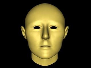 female mesh head 3d model