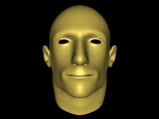 3d model male mesh head