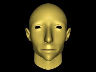 3d model woman mesh head