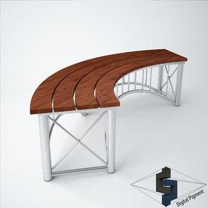 bench curve 3d model
