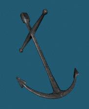 3d ship anchor model