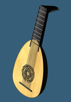 3d lute guitar model