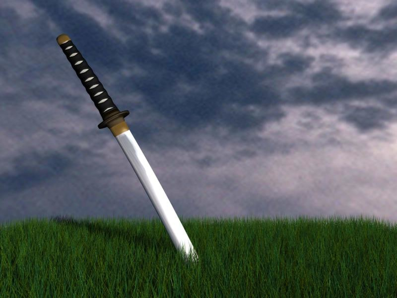free katana blade 3d model
