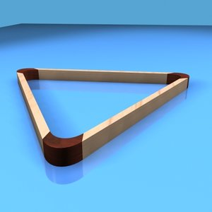 pool table triangle 3d max