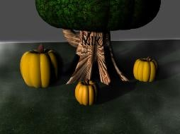 ghost pumpkins 3d model