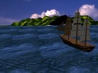 sails ship 3d model