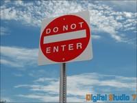 enter sign 3d model