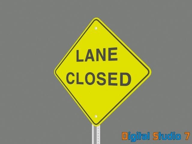 lane closed sign max