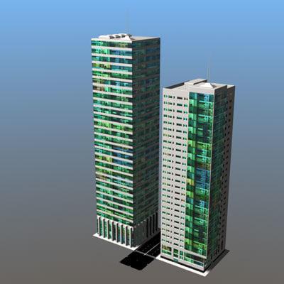 3ds building skyscraper
