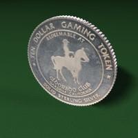 3d model token coin