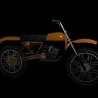 harley mx 250 3d model