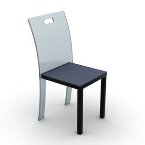 glass chair 3d model