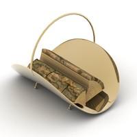3d model decorative fireplace tray
