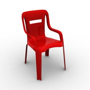 plastic chair 3d model