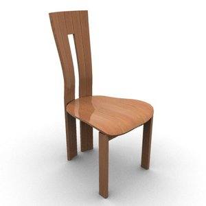 3d max wooden chair