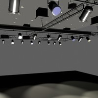 interior trussed lighting 3d model