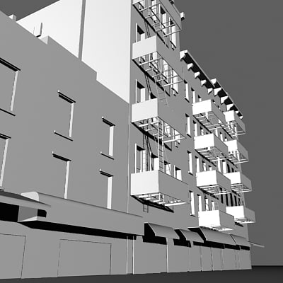 3ds max new york facade