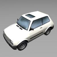 car white 3d model