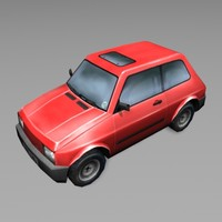 3d red car