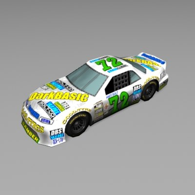 3d model car racing nascar