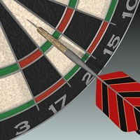 dartboard dart 3d xsi