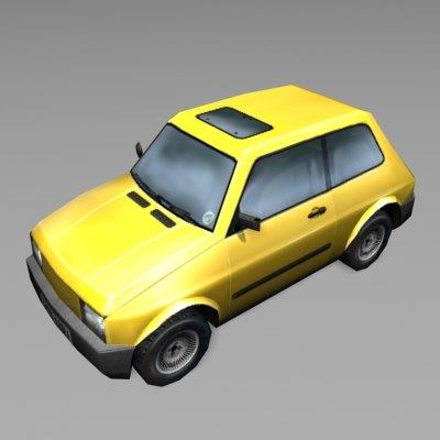 car yellow 3d 3ds