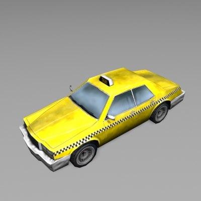 car taxi cab 3d model