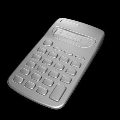 digital calculator 3d model