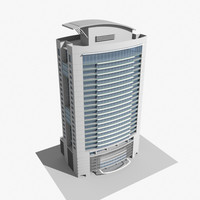 modern office tower 3d model
