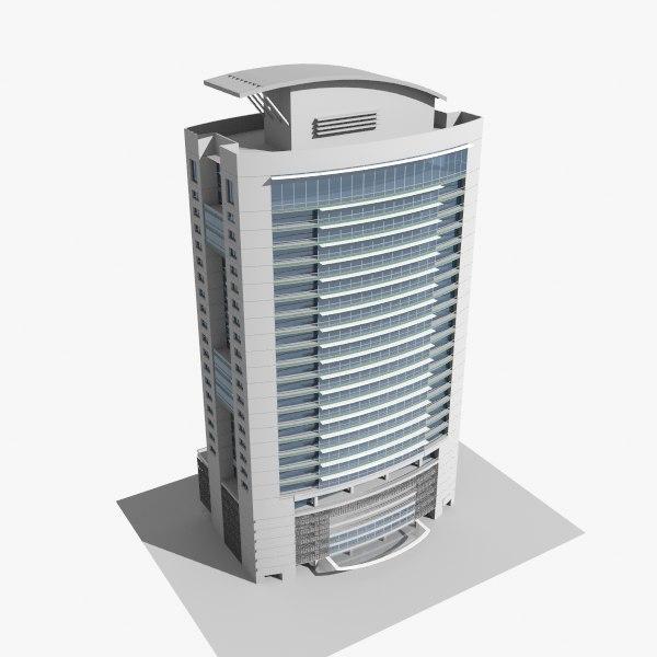 modern office tower 3d model