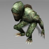 alien mutant static 3d model