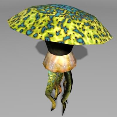 alien psionic 3d model
