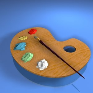 pallet art 3d model
