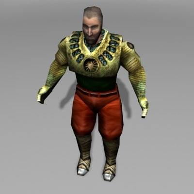 3ds character man gladiator