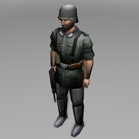 soldier human 3d model