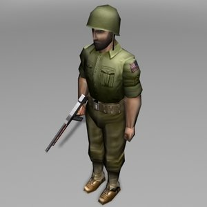 soldier miltary human 3d 3ds