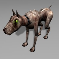 3d hound canine model