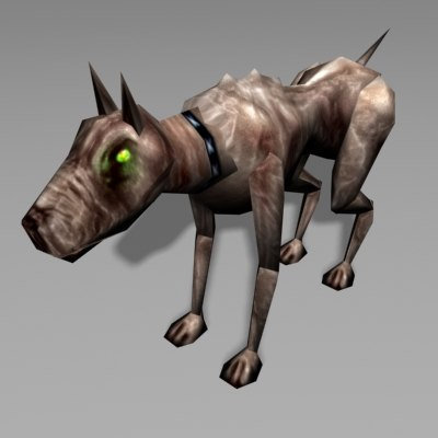 hound canine 3d model