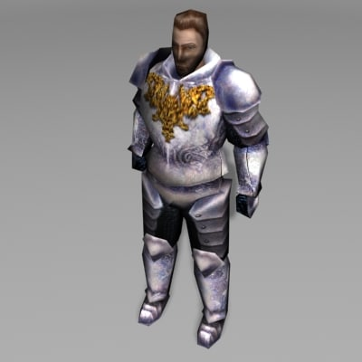 knight character human 3ds