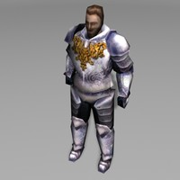 3ds knight character human