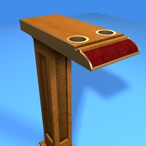 3d model casino drink stand