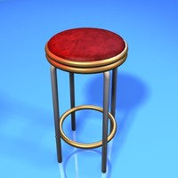 3ds max casino stool