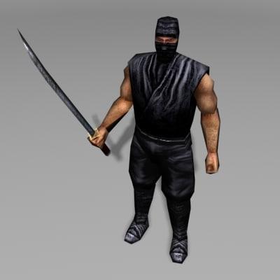 ninja human 3d model