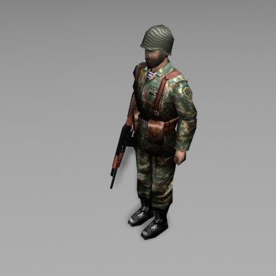 3d model soldier military character