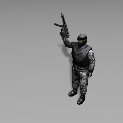swat human people 3d model