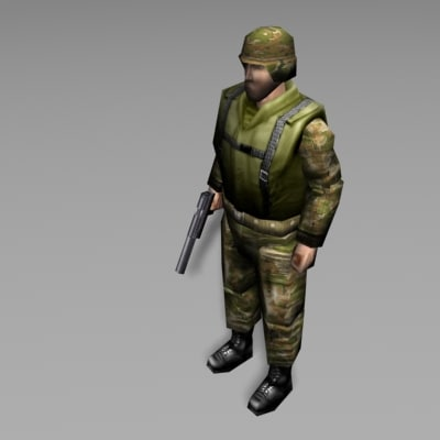 soldier military human 3d model