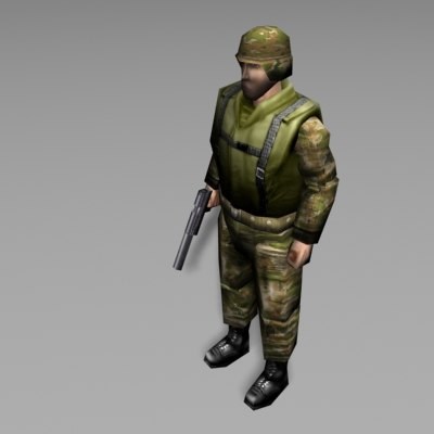 3d military soldier character model